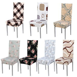 SHORT REMOVABLE STRETCH SLIPCOVERS DINING COTTON BLEND