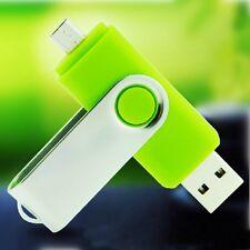 32GB USB Stick OTG - GRÜN - USB 2.0 + Micro USB - Dual USB Flash Drive