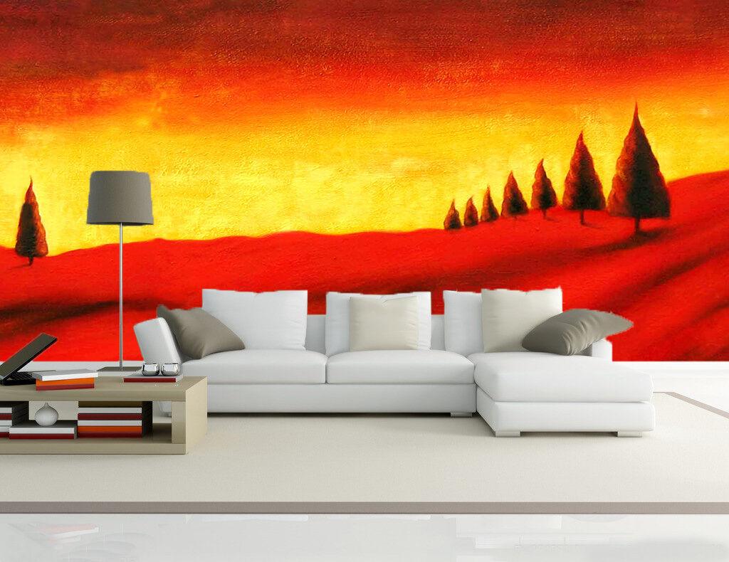 3D Der rote Himmel und erde 2 Fototapeten Wandbild Fototapete BildTapete Familie