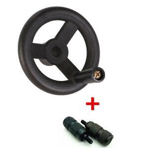 Bridgeport-Milling-Machine-Feed-Plastic-Hand-Wheel-and-2x-Reverse-Knob-Mill-Tool