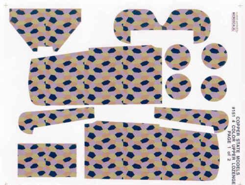 NEU ! 1:28 Copper State Models #D28-151 FOKKER D.VII Upper Lozenge