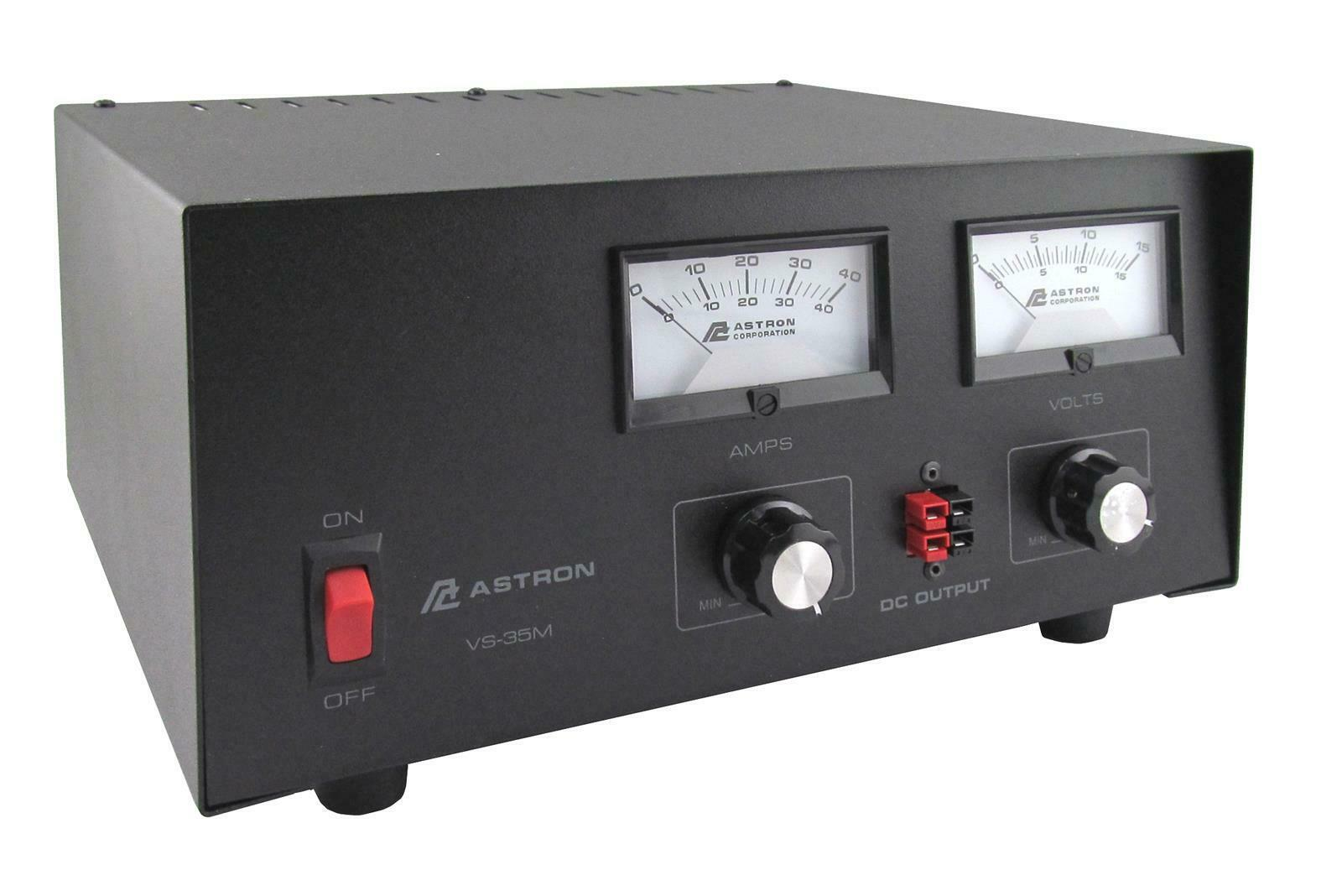 Astron VS-35M-AP 35 Amp Adjustable DC Power Supply w/Meters. Available Now for 275.00