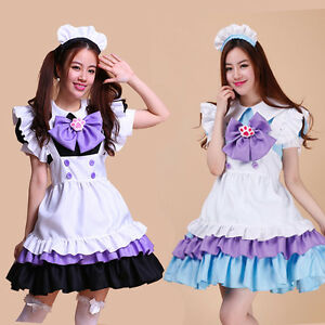 Japanese Lolita Maid Uniform Outfit Anime Cosplay Costume Dress Sexy