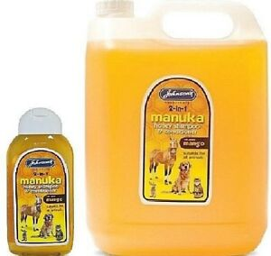 Shampooing et revitalisant au miel de Manuka - (200ml 5ltr) Johnsons Bp Dog Animal Cat