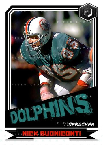 ACEO NICK BUONICONTI MIAMI DOLPHINS CUSTOM HAND MADE ART CARD