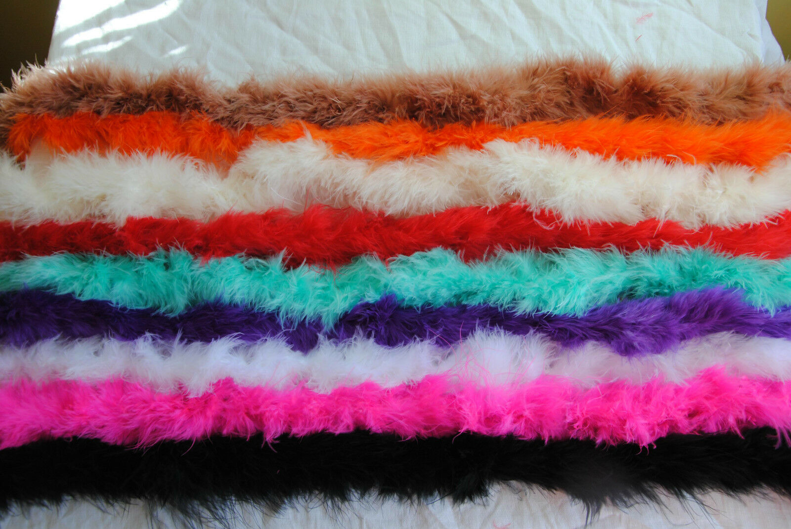 2M Feather Boa Strip Fluffy Craft Costume Dressup Party Performance Decoration