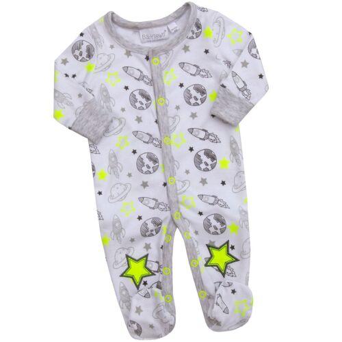 Babytown bébé garçons à thème 2 Piece Sleepsuit Avec Scratch Mitaines