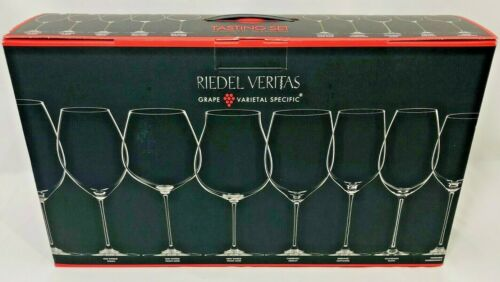Riedel Veritas Tasting Set Grape Varietal Specific Wine Glasses Clear 4 Piece