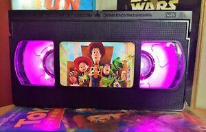 Disney Toy Story VHS Night Light, Film Retro, Desk Lamp, Led, Bedroom Lamp, Kids