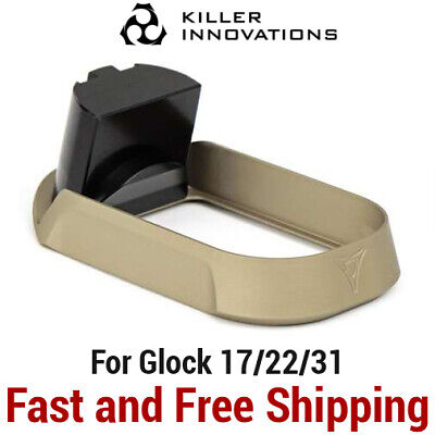 Killer Innovations Velocity BLUE Enlarged Flared Magwell for Glock 17 22 31 MAG