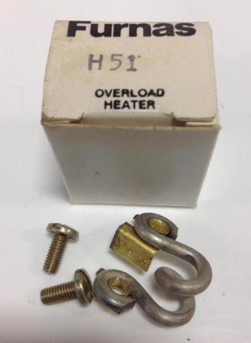 LOT OF 2 FURNAS OVERLOAD HEATER COIL H51 NIB