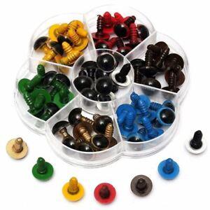 1X-70Pzs-Ojos-De-Seguridad-para-Muneca-Oso-Plastico-Color-Mezclado-Diy-12Mm-2I