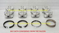 Chevy 5.0/5.0l/305 Sealed Power Cast Flat Top Pistons+cast Rings Set/kit +.020