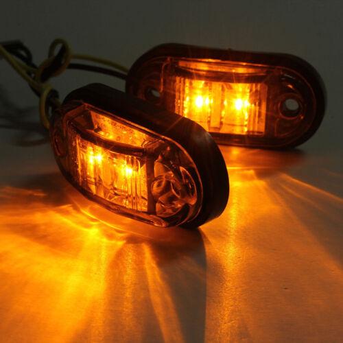12V 2 LED Front Side Marker Light Position Truck Trailers side lights Durable