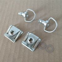 15mm Chrome Quick Release Fasteners Fairing Bolts Studs Quarter Turn + Clips