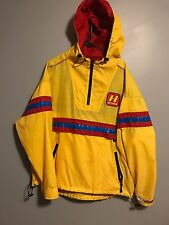 VTG 90s Tommy Hilfiger Cycling Yellow Blue Colorblock Anorak 3M Windbreaker RARE