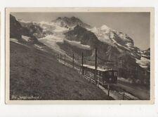 Die Jungfraubahn Switzerland Vintage RP Postcard 414a