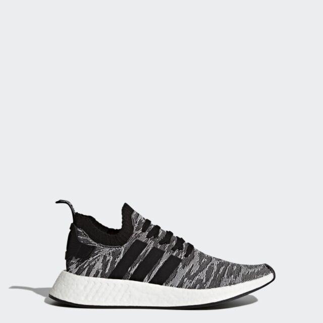 Adidas Nmd Mens Shoes R2 PK Black White BY9409