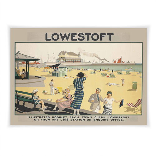 Vintage railway poster Lowestoft A4