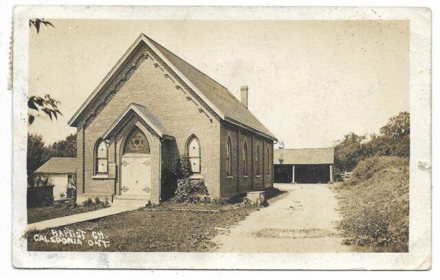 Haldimand County CALEDONIA ONTARIO Baptist Church Circa 1911