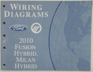 2010 ford fusion & mercury milan hybrids electrical wiring diagrams manual  | ebay  ebay