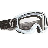Scott Usa Recoil Xi Mx Off Road Mx Atv Goggles White / Clear Lens Afc 217796