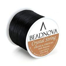 Elastic Stretch Beading Cord Bracelet String Thread Roll Jewelry Making - Black