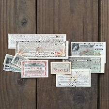 10 Differnet Vintage Original Early 20th Century BOND COUPONS 1900s 1920s