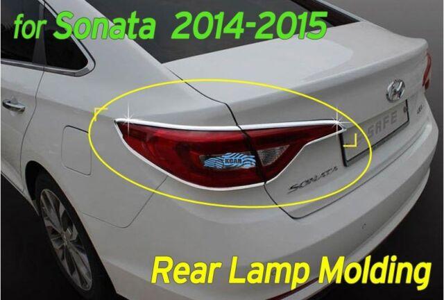 Chrome Rear Lamp Molding Garnish Trim Cover 4p K597 for Hyundai SONATA 2014-2015