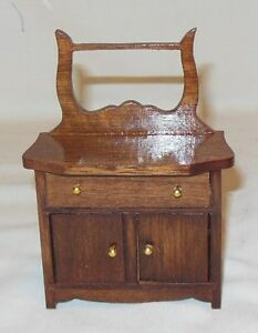 VICTORIAN TOWEL STAND VINTAGE DOLL HOUSE FURNITURE MINIATURES