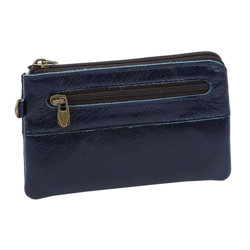 1PC Money Bag Card Wallet Foldable Card Pouch Unisex Clutch Leather Coin Purse