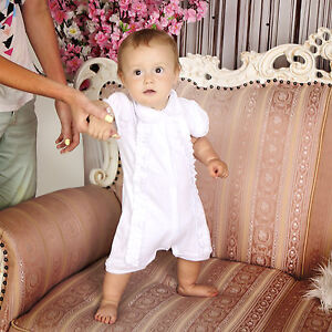 8432d60b0026 Image is loading Baby-Boy-Baptism-Suit-Christening-Romper-White-Outfit-