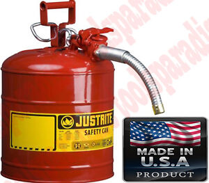 5GAL Auto Mechanic Shop GAS SAFETY CAN Oil Storage Tank