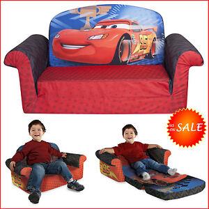 Disney Car 2in1 Flip Sofa Bed Kids Toddler Boy Sleeper