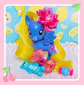 ❤️My Little Pony Friendship Is Magic G4 Purple Lily Blossom Yellow Hair RARE❤️