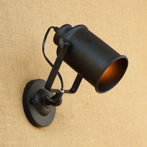 Uk E27 Retro Loft Industrial Adjustable Swing Arm Wall Sconce Lamp
