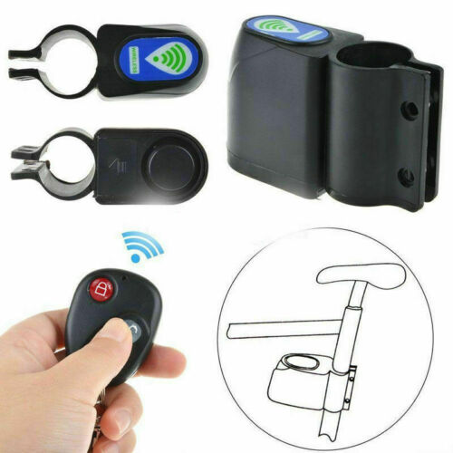 Wireless Alarm Lock Bicycle Bike Security System With Remote Control Anti-Theft*