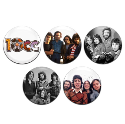 5x 10cc Rock Band 25mm 1 Inch D Pin Button Badges
