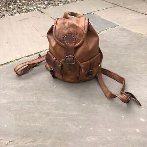 Vintage-Style-Leather-Mini-Backpack-Dark-Brown