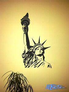 Dettagli su Parete Tatuaggio Statua della Libertà 2, Matt NEW YORK AMERICA  Parete Adesivo Decorazione Soggiorno- mostra il titolo originale