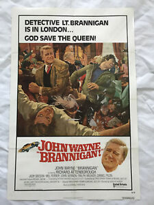 034-Brannigan-034-1975-Original-Movie-Poster-First-Issue-27x40-John-Wayne