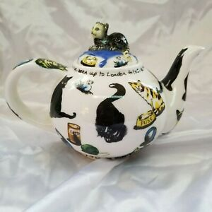 Paul-Cardew-Design-2004-Cat-Teapot-with-Cat-on-Pillow-Lid