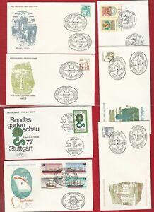 BRD-BUND-919-16-TOB-AUSWAHL-LOT-ERSTTAGSBRIEFE-1977-1978-MIT-SCHIFFEN