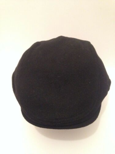 PEAKY BLINDERS BLACK WOOL BLEND CAP NEWSBOY BAKER BOY FLAT CAP