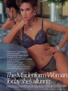 f5537f0559 1985 Sexy Woman MAIDENFORM Chantilly Blue Bra   Panty Magazine Print ...