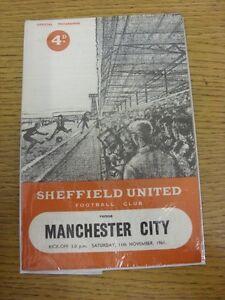 11-11-1961-Sheffield-United-v-Manchester-City-Faint-Crease-Footy-Progs-Bobfr