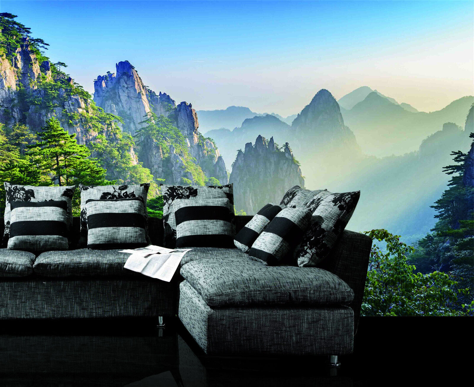 3D Sunshine Mountain 657 Wall Paper Wall Print Decal Wall Deco Indoor Wall