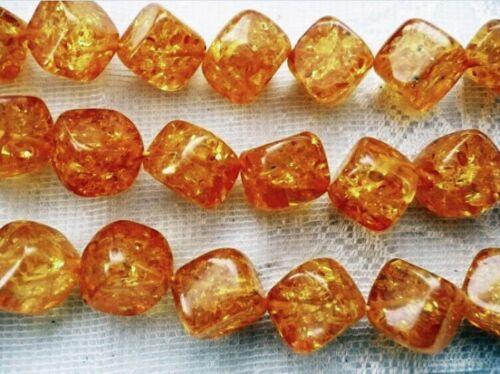ukcheapest-copal amber diamond square star  triangle beads orange yellow beads