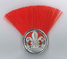 SCOUTS OF FIJI - ASSISTANT SCOUT LEADER (RED COLOUR) Metal Plume / Hat Patch