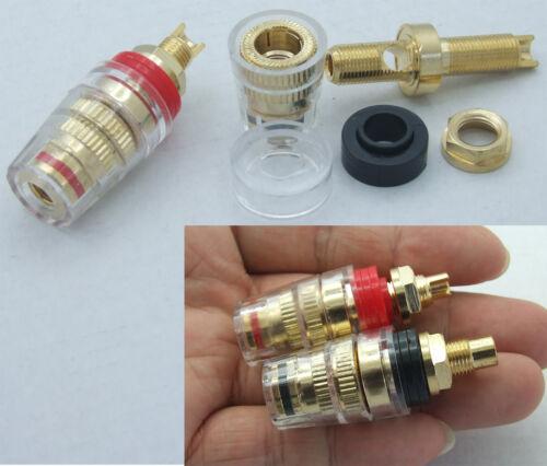 2PC Medium Copper Binding Post for Danji Power Amplifier 4MM Banana plug Speaker
